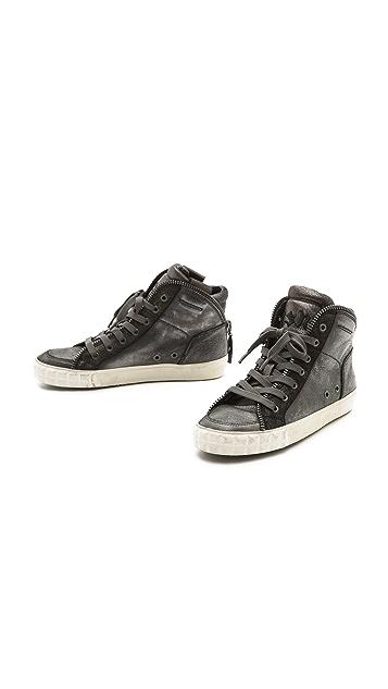 Ash Shake High Top Zipper Sneakers