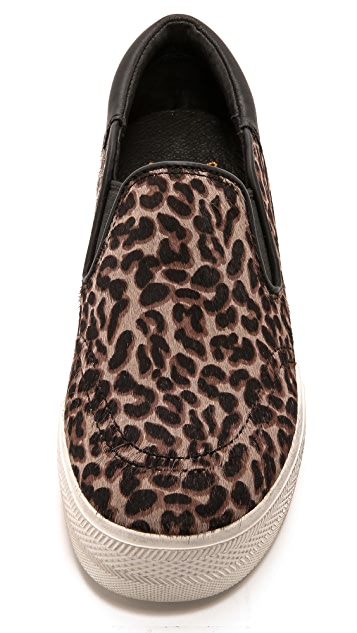 Ash Jam Leopard Haircalf Slip On Sneakers