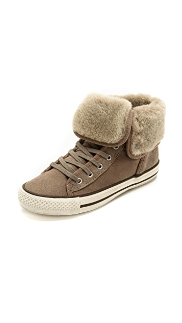 Ash Vanna High Top Shearling Sneakers