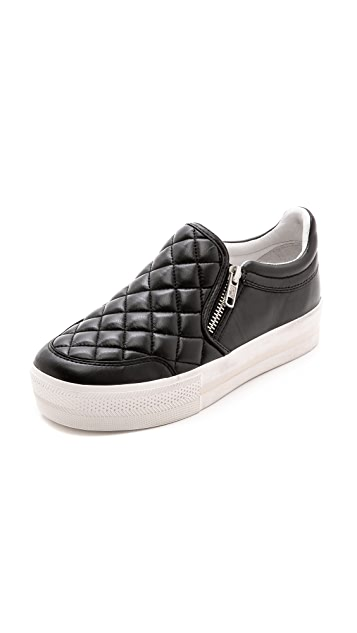 Ash Jodie Quilted Slip On Sneakers