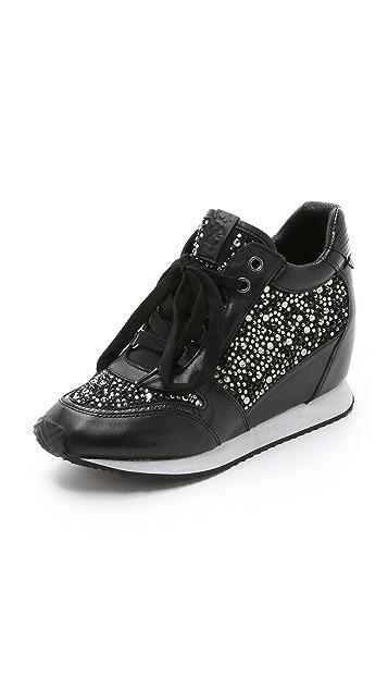 ba5fbffe2b7 Ash Rhinestone Wedge Sneakers
