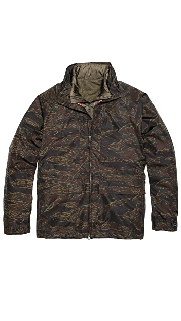 Aspesi Camo Jacket with Removable Liner