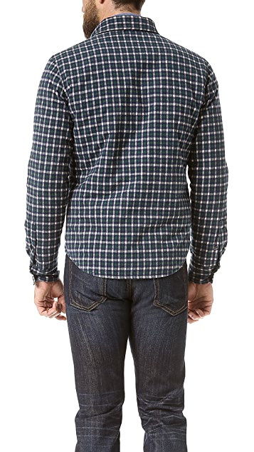 Aspesi Check Flannel Shirt Jacket