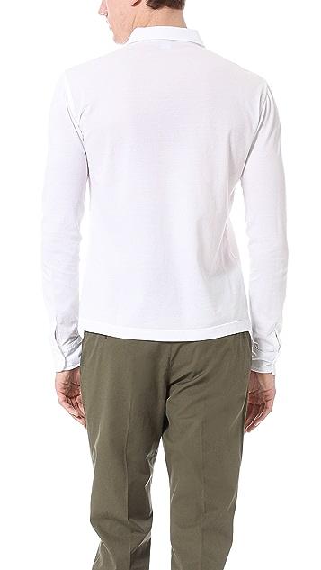 Aspesi Long Sleeve Polo Shirt