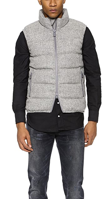 Aspesi Harris Tweed Down Vest