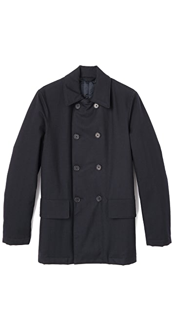 Aspesi Treated Wool Pea Coat