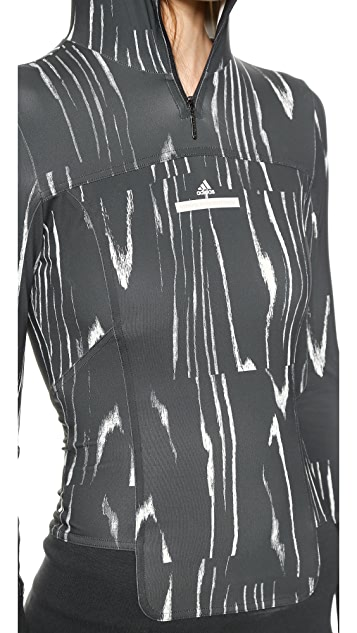 adidas by Stella McCartney Hooded Long Sleeve Top
