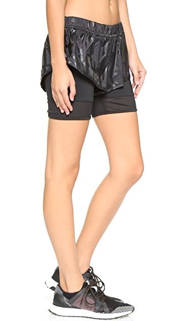adidas by Stella McCartney Running Double Layer Shorts
