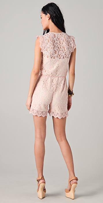 ALICE by Temperley Surya Lace Romper
