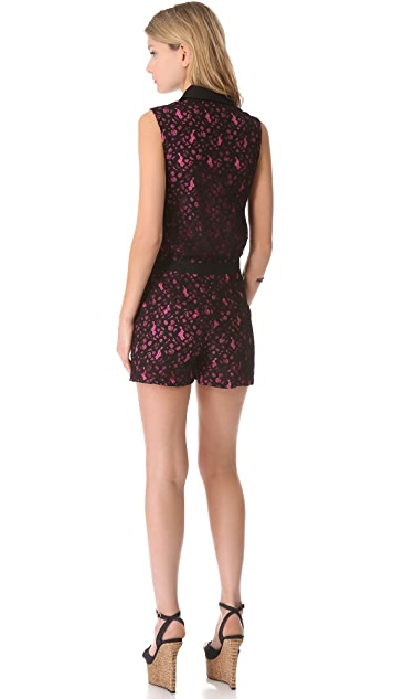 ALICE by Temperley Violette Lace Romper