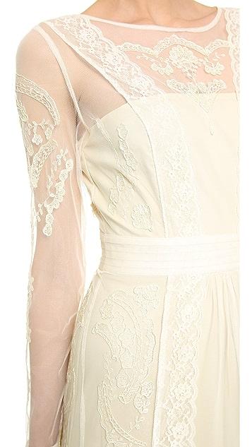 ALICE by Temperley Long Sleeve Botanical Dress
