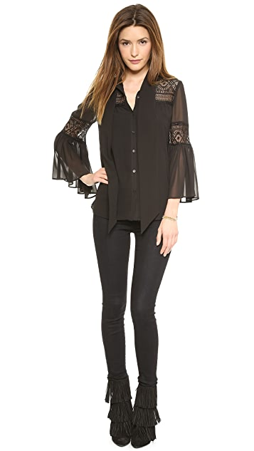 ALICE by Temperley Fleur Lace Blouse