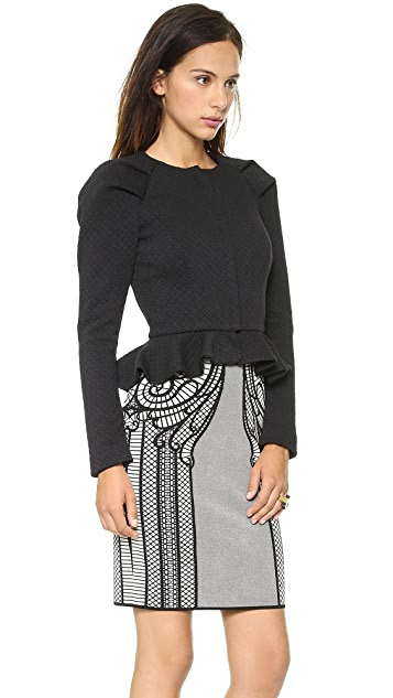 ALICE by Temperley Stretch Tailoring Peplum Jacket