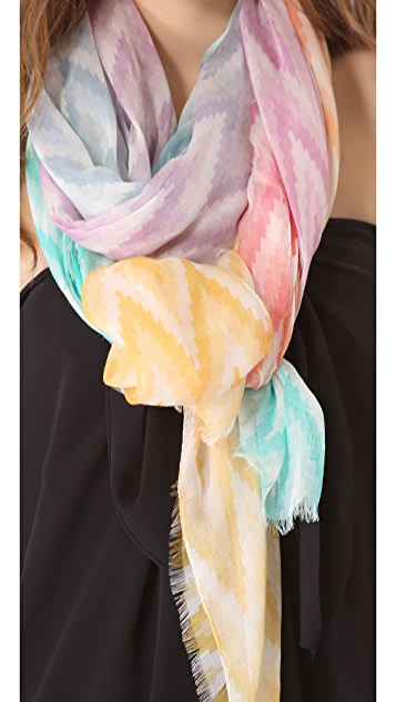 Athena Procopiou Tribal Rainbow Wave Scarf