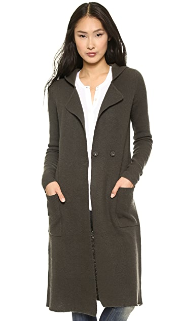 ATM Anthony Thomas Melillo Felted Double Breasted Hooded Coat