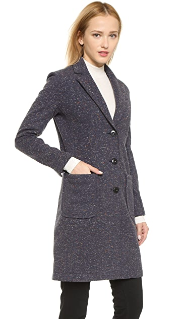ATM Anthony Thomas Melillo Bonded Overcoat with Faux Fur Backing
