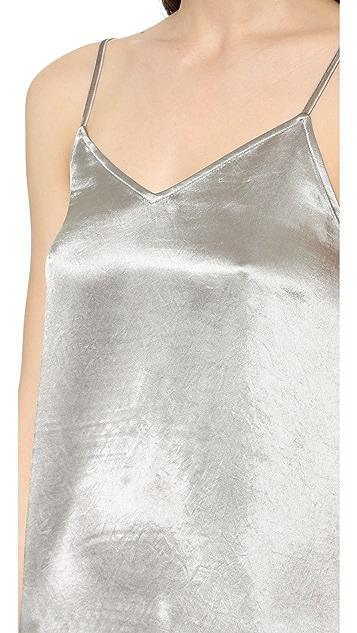 ATM Anthony Thomas Melillo Deep V Slip Dress