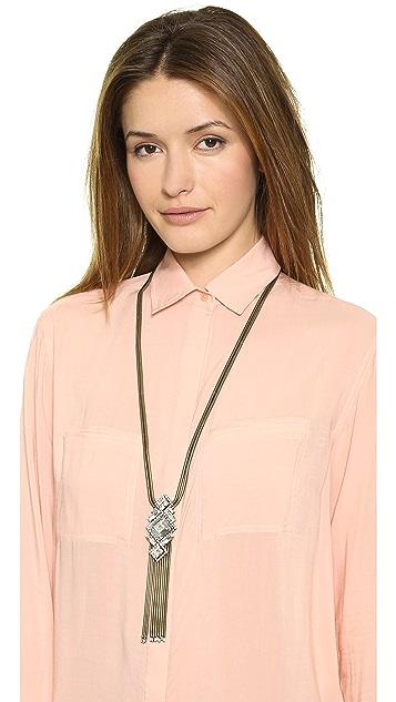 AUDEN Riley Fringe Pendant Necklace