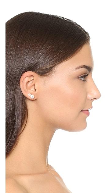 AUDEN Hannah Swarovski Imitation Pearl Earrings