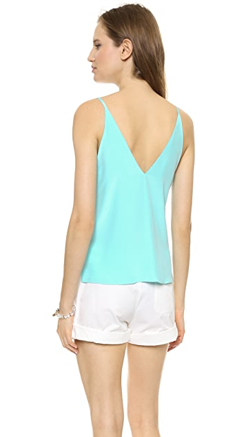 Amanda Uprichard V Neck Silk Camisole