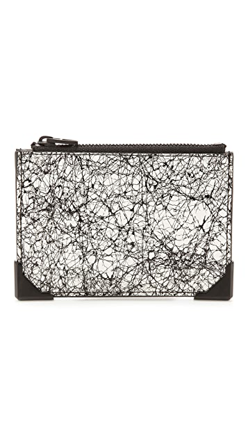 Alexander Wang Wallie Scribble Print Coin Pouch