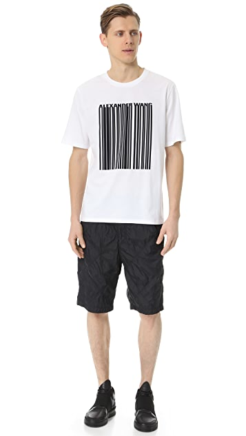 Alexander Wang Diamond Quilted Panel Shorts