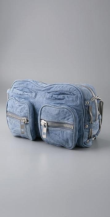 Alexander Wang Brenda Zip Bag in Denim Leather