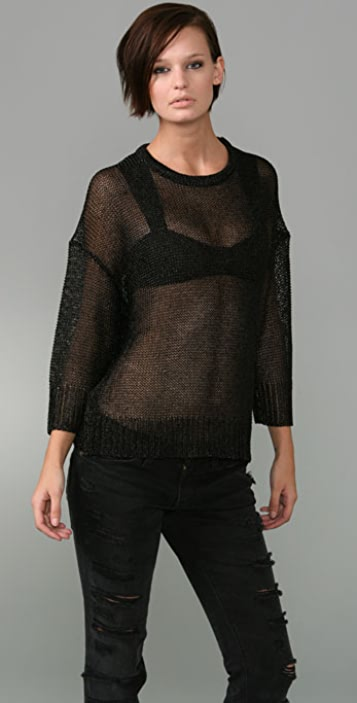Alexander Wang Shiny Chain Mail Sweater