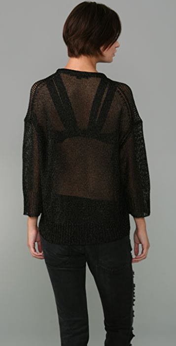Alexander Wang Shiny Chain Mail Sweater
