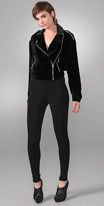 Alexander Wang Velvet Motorcycle Jacket