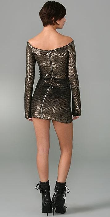 Alexander Wang Metal Sequins Dress
