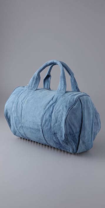 Alexander Wang Coco Duffel in Denim Leather