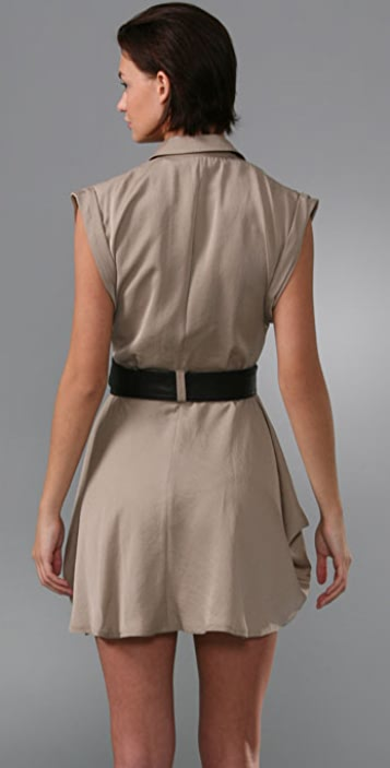 Alexander Wang Safari Double Breasted Dress with Wrap Belt