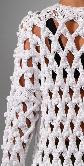 Alexander Wang Lattice Bobble Sweater