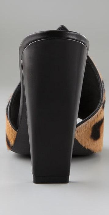 Alexander Wang Isabeli Haircalf Pointed Mules