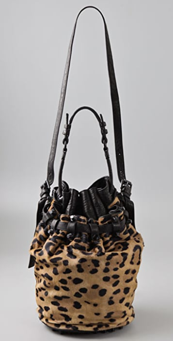 Alexander Wang Leopard Diego Bucket Bag