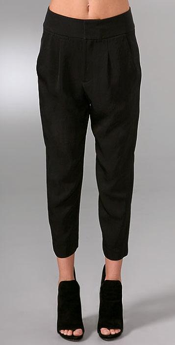 Alexander Wang High Waisted Pegged Tuxedo Pants