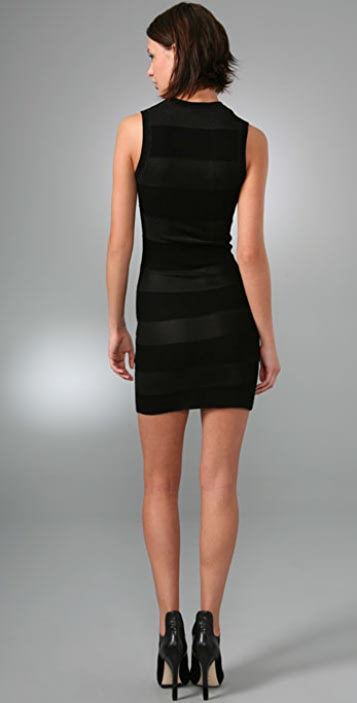 Alexander Wang Shadow Stripe Mini Dress