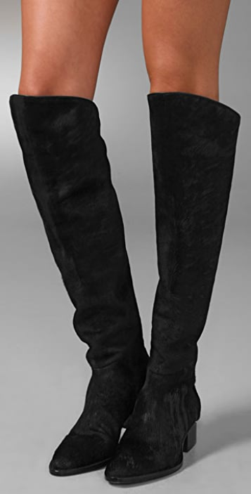Alexander Wang Sigrid Over the Knee Boots with Notched Heel