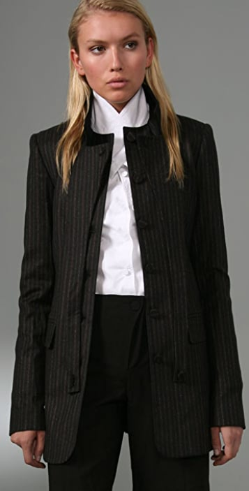 Alexander Wang Wool Jacket with Wraparound Lapel
