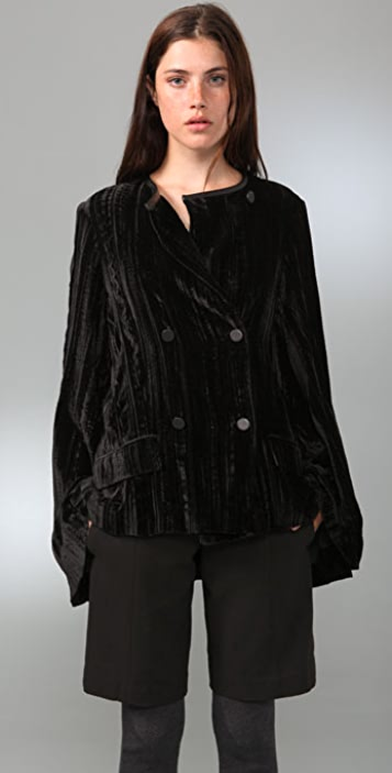 Alexander Wang Velvet Coat with Cape Back