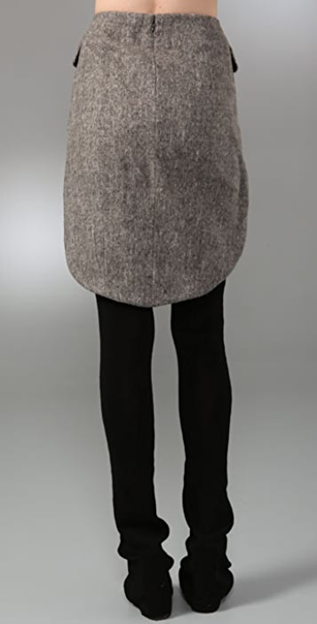 Alexander Wang Fitted Miniskirt with Tailcoat Detail