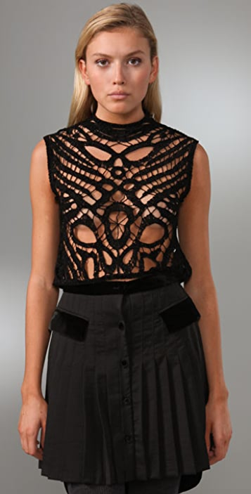 Alexander Wang Embroidered Cropped Top