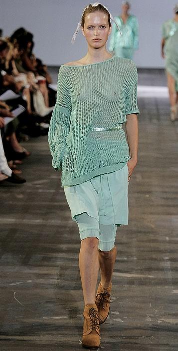 Alexander Wang Mesh Stitch Combo Sweater