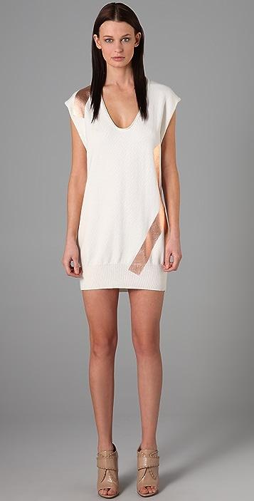 Alexander Wang Cotton Foil Tank Dress