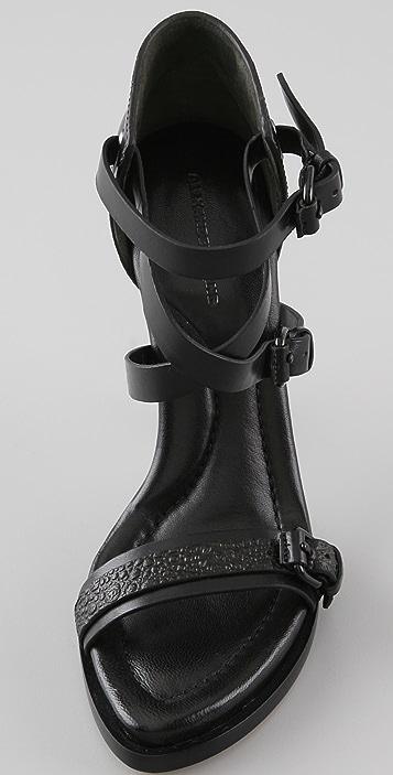 Alexander Wang Stella Suede Buckle Sandals