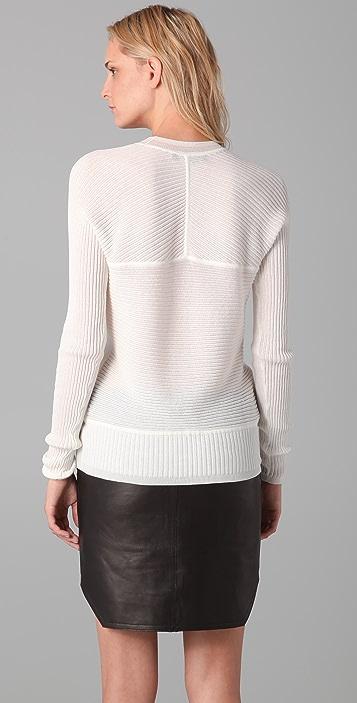 Alexander Wang Graphic Rib Crew Neck Sweater