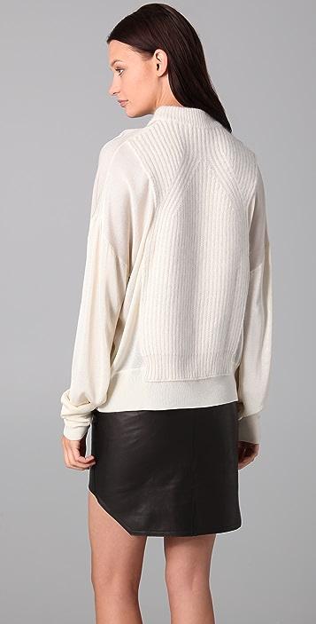 Alexander Wang Sheer Chunky Crew Neck Sweater
