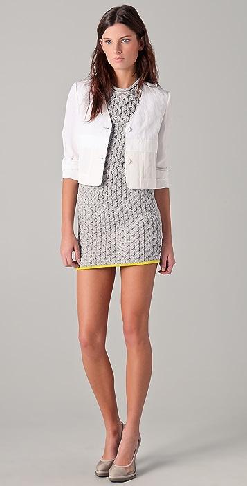 Alexander Wang Honeycomb Knit A Line Dress
