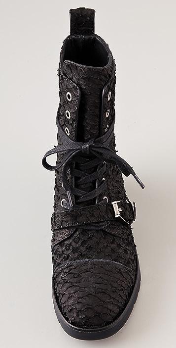 Alexander Wang Daria Buckle Combat Boots